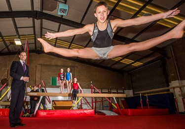 Gymnastics club's giant leap wins high praise from Welsh Minister